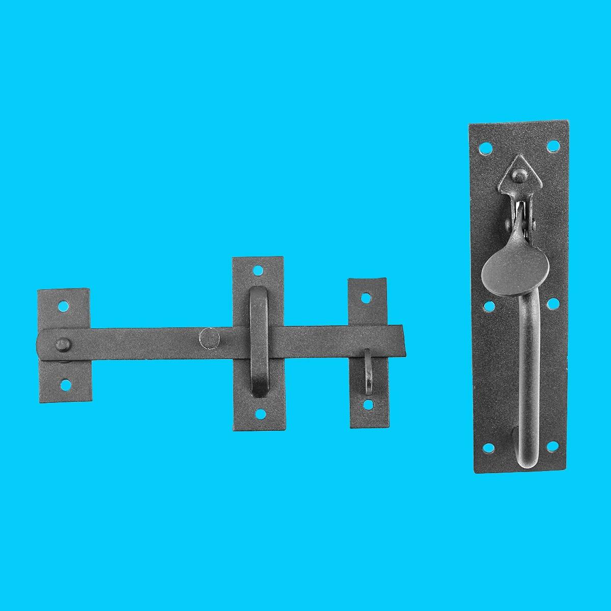 Black Iron Door Latch Lock Set Norfolk Gate Or Door