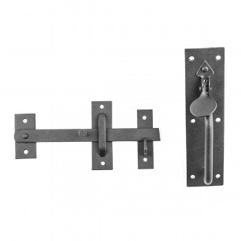 Black Iron Door Latch Lock Set Norfolk Gate or Door Gate Latch Rust Proof Wrought Iron Gate Latch Backyard Gate Latch