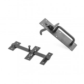 <PRE>Black Iron Door Latch Lock Set Norfolk Gate or Door </PRE>zoom5