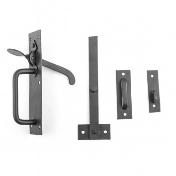 <PRE>Black Iron Door Latch Lock Set Norfolk Gate or Door </PRE>zoom8