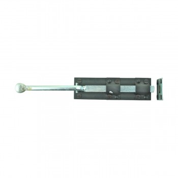 <PRE>Monkey Tail Slide Door Bolts Black Wrought Iron 12inch </PRE>zoom3