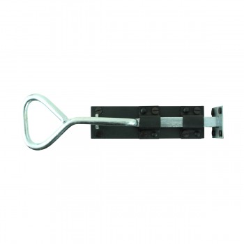 <PRE>Bow Handle Slide Door Bolt Black Wrought Iron 12inch </PRE>zoom3