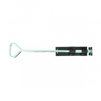 <PRE>Bow Handle Slide Door Bolt Black Wrought Iron 18inch </PRE>zoom3