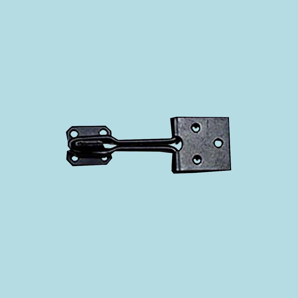 Door Hasp Lock Black Wrought Iron Wire 3\   sc 1 th 225 & Hasp Lock Black Wrought Iron Wire 3\