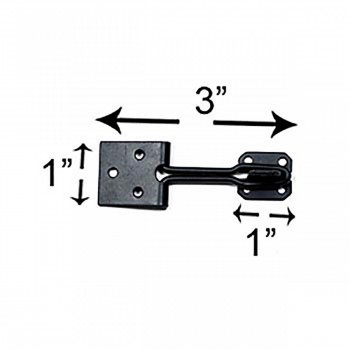 "spec-<PRE>Door Hasp Lock Black Wrought Iron Wire 3"" </PRE>"