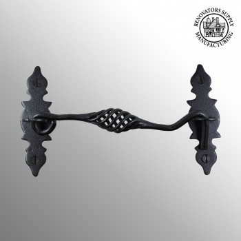 <PRE>Cabin Hook Birdcage Black Wrought Iron 6 1/2&quot; </PRE>