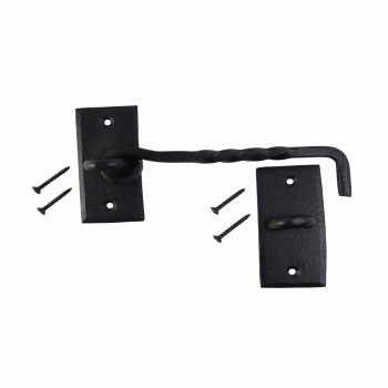 <PRE>Wrought Iron Cabin Hook Black Rustproof Finish 6 in.  </PRE>zoom5