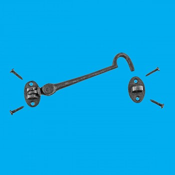 <PRE>Black Wrought Iron Eye Hook 6in Rustproof Cabins Sheds Gates Doors Lockers</PRE>
