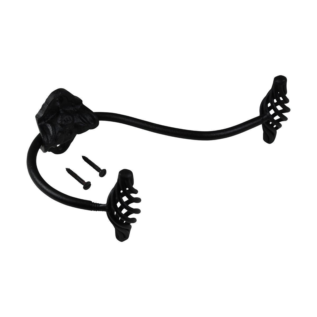 Hook Wrought Iron Black Birdcage Double 8 Hooks Decorative Hook Coat Hook
