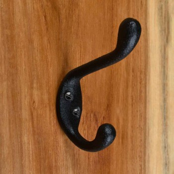 <PRE>Hook Wrought Iron Black Double 3inch </PRE>zoom8