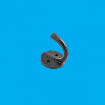 "<PRE>Hook Wrought Iron Black RSF Coat 1 1/2inch X  1 3/4"" </PRE>zoom2"