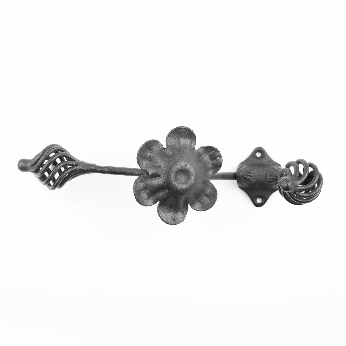 Iron Decorative Double Hook Birdcage 8 Wrought Iron Robe Hooks Black Double Robe Hook Robe Hooks For Bathrooms