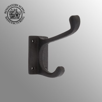 4Inch Black Wrought Iron Hook Double Hook Wrought Iron Robe Hooks Black Double Robe Hook Robe Hooks For Bathrooms