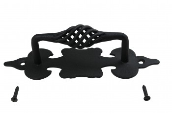 Cabinet Pull Birdcage Black Wrought Iron 6