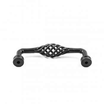 <PRE>Drawer Handle Cabinet Pull Birdcage Black Wrought Iron 6inch </PRE>zoom5