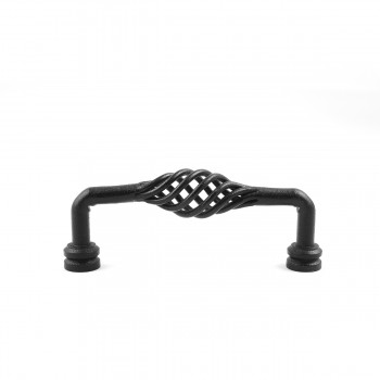 <PRE>Drawer Handle Cabinet Pull Birdcage Black Wrought Iron 6inch </PRE>zoom8