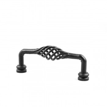 Drawer Handle Cabinet Pull Birdcage Black Wrought Iron 5 5/8