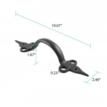 "spec-<PRE>Door Pull Spear Black Wrought Iron 10 1/2"" </PRE>"