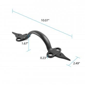 spec-<PRE>Door Pull Spear Black Wrought Iron 10 1/2&quot; </PRE>