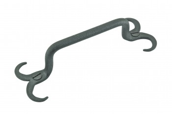 Cabinet Pull Drawer Handle Horn Black Wrought Iron 4 1/2