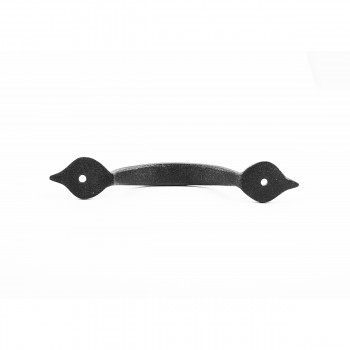<PRE>Spear Door or Drawer Pull Black Wrought Iron 5 1/2inch </PRE>zoom6