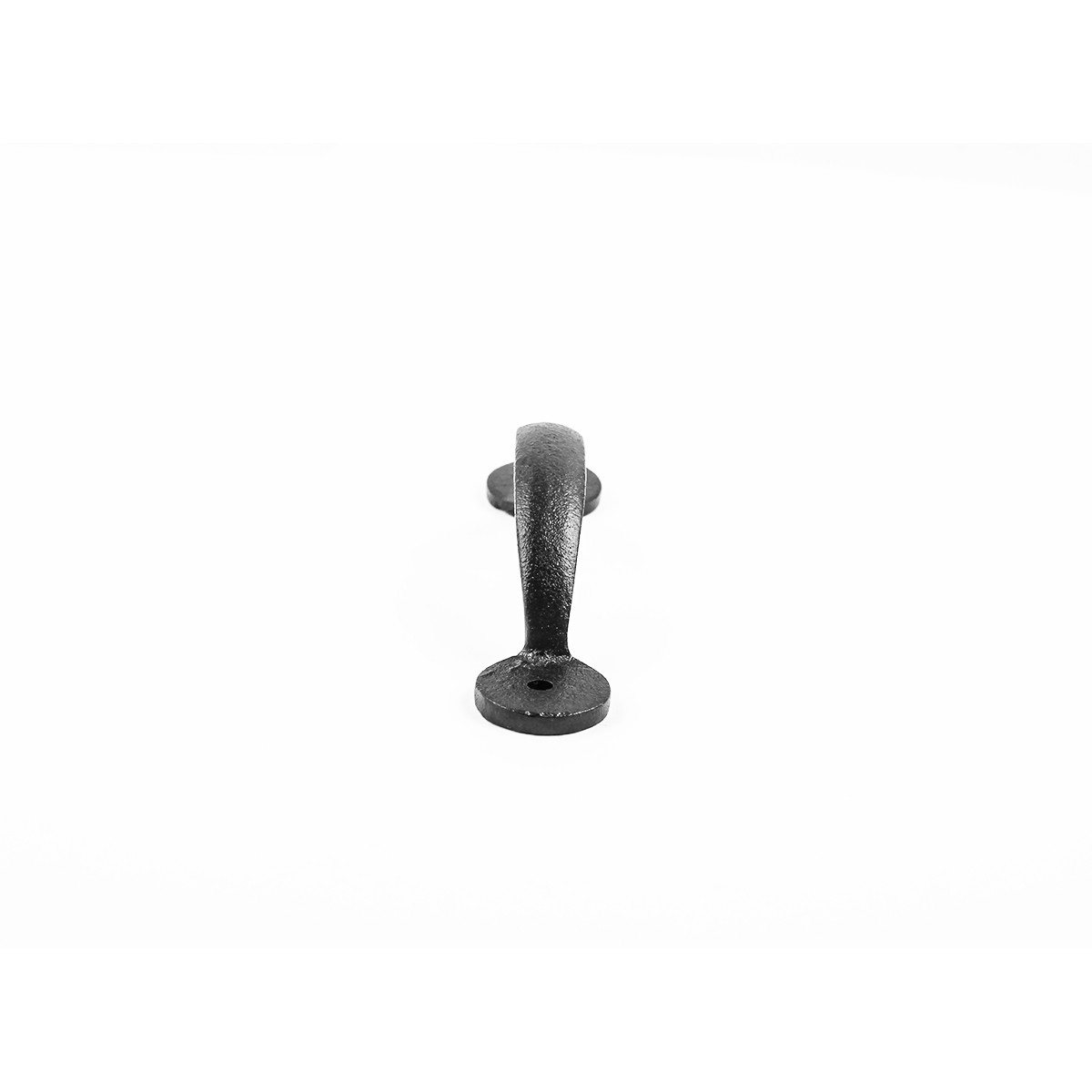 Door or Drawer Pull Bean Black Wrought Iron 4 78 Wrought Iron Door Pulls Black Door Pulls Antique Door Pulls For Cabinets