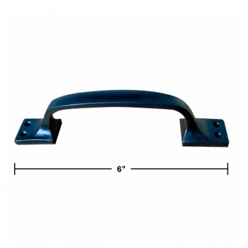 "spec-<PRE>Door Pull Black Wrought Iron 6"" </PRE>"