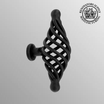 <PRE>Black Cabinet Pulls Birdcage Iron Door Or Drawer Pulls Black 3 1/4 Inch</PRE>zoom2