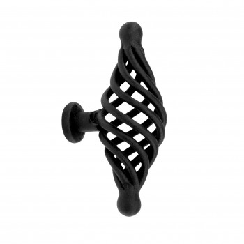 Black Cabinet Pulls Birdcage Iron Door Or Drawer Pulls Black 3 14 Inch