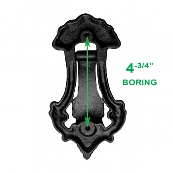 spec-<PRE>Black Door Knocker Cast Iron Door Knockers for Front Door 7 1/2 Inch X 4 Inch</PRE>