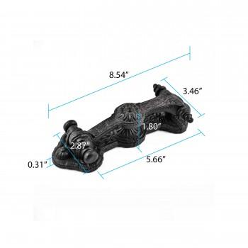 spec-<PRE>Door Knocker Black Cast Iron Brand New 8 3/4&quot; H x 3&quot; W </PRE>