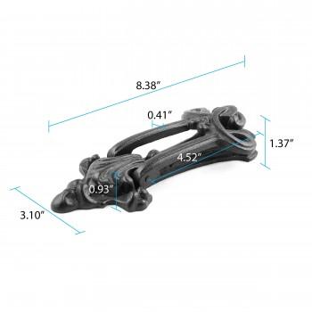 spec-<PRE>Door Knocker Black Cast Iron Brand New 8 1/2&quot; H x 3 1/4&quot; W </PRE>