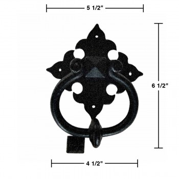 spec-<PRE>Door Knocker Black Cast Iron Brand New 6 1/2&quot; H x 5 1/2&quot; W </PRE>