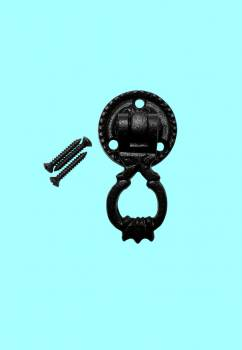 <PRE>Ring Cabinet Drawer Door Pull Wrought Iron Black 2 1/inch H </PRE>zoom2