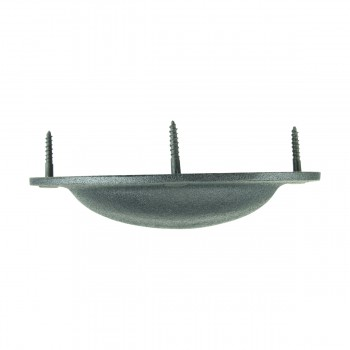 "<PRE>Cabinet or Drawer Bin Pull Black Iron Cup 4inch W x 1 3/4"" H </PRE>zoom9"