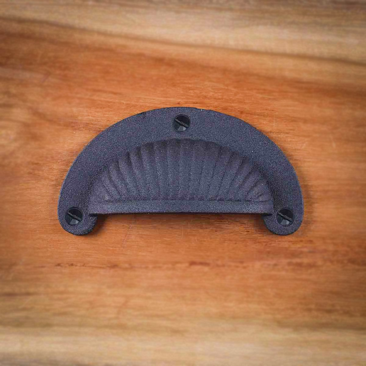Black Wrought Iron Cup Pull 3 78 W, 3 516 Boring Antique Cast Iron Cabinet Cup Pull Cabinet Pull Cabinet Hardware