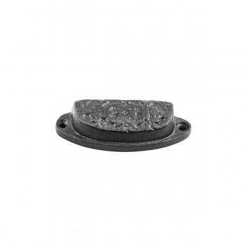 <PRE>Cabinet or Drawer Bin Pull Black Iron Cup 3 1/4inch x 1 3/16 </PRE>zoom5