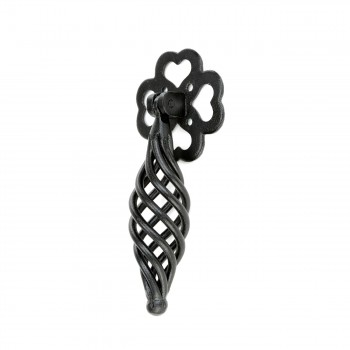 Cabinet or Drawer Birdcage Pull Black Iron 4 12 x 2 H Wrought Iron Drawer Pulls Birdcage Drawer Pulls Black Drawer Pulls