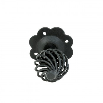 <PRE>Cabinet Drawer Birdcage Pull Black Iron 4inch x 2 1/2&quot; H </PRE>zoom6