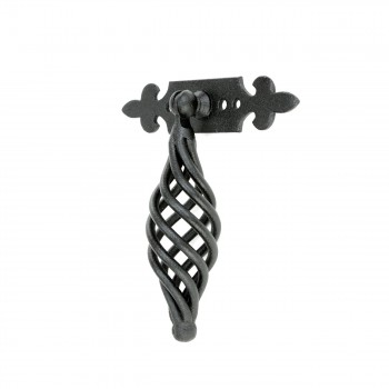 "<PRE>Cabinet or Drawer Birdcage Pull Black Iron 4inch x 3 3/4"" W </PRE>zoom3"