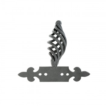 "<PRE>Cabinet or Drawer Birdcage Pull Black Iron 4inch x 3 3/4"" W </PRE>zoom4"