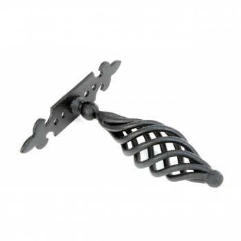 "<PRE>Cabinet or Drawer Birdcage Pull Black Iron 4inch x 3 3/4"" W </PRE>zoom7"