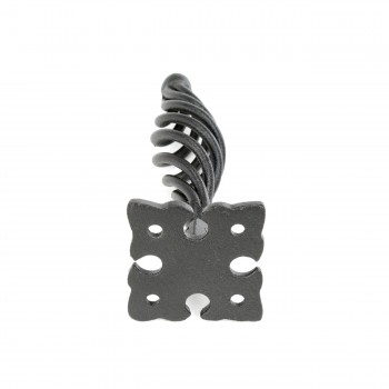 "<PRE>Cabinet or Drawer Birdcage Pull Black Iron 5inch H x 1 1/4"" W </PRE>zoom6"