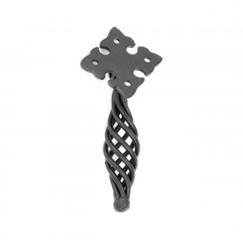 "<PRE>Cabinet or Drawer Birdcage Pull Black Iron 5inch H x 1 1/4"" W </PRE>zoom7"