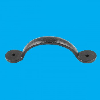 <PRE>Door or Drawer Pull Black Cast Iron Bean 4 3/4inch x 1&quot; </PRE>zoom2