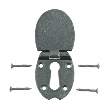 <PRE>Escutcheon Black Wrought Iron 2 1/2inchH </PRE>zoom10