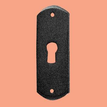<PRE>Escutcheon Black Wrought Iron Keyhole Cover 3&quot;H </PRE>