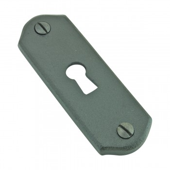 <PRE>Escutcheon Black Wrought Iron Keyhole Cover 3inchH </PRE>zoom9