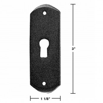 spec-<PRE>Escutcheon Black Wrought Iron Keyhole Cover 3&quot;H </PRE>