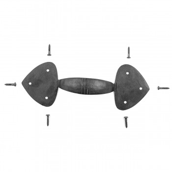 Door Pull Black Wrought Iron Heart 8 78 x 3 14 Wrought Iron Door Pulls Black Door Pulls Antique Door Pulls For Cabinets